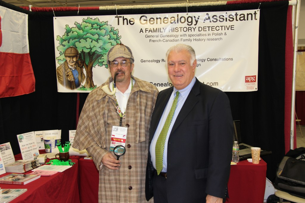 Mayor Gatsas meets Tim Firkowski, The Genealogy Detective
